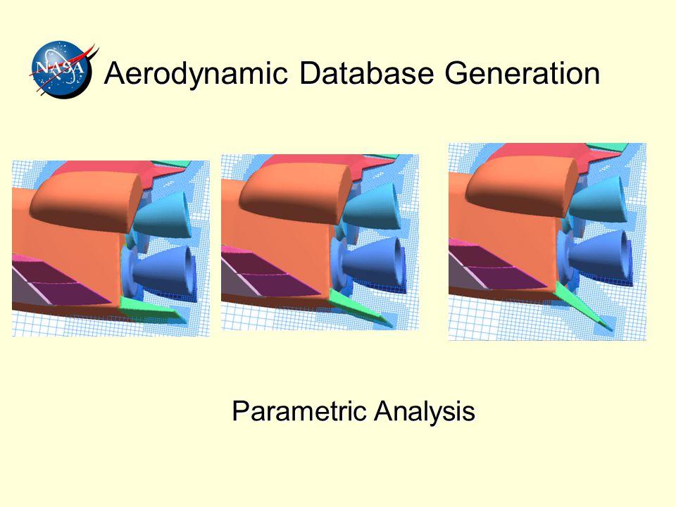 Aerodynamic Database Generation Parametric Analysis
