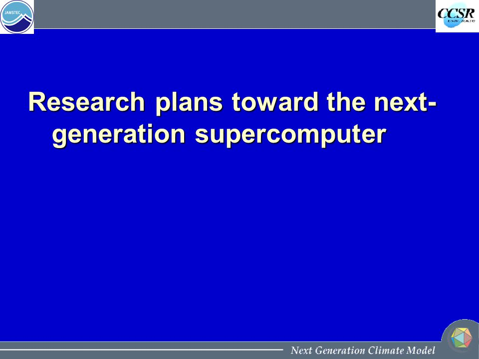 Research plans toward the next- generation supercomputer