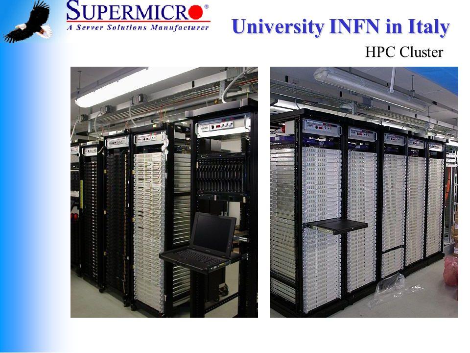 University INFN in Italy HPC Cluster