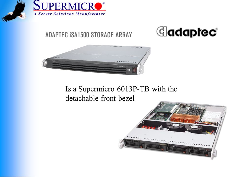 Is a Supermicro 6013P-TB with the detachable front bezel