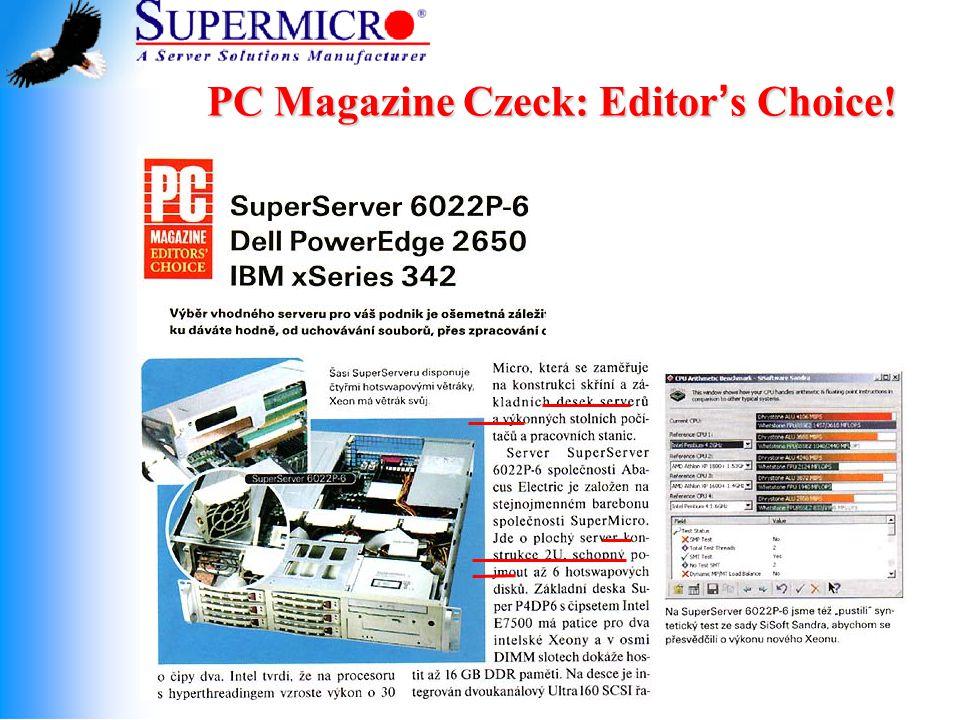 PC Magazine Czeck: Editor ' s Choice!