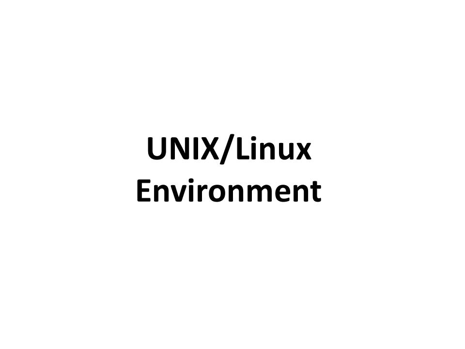 UNIX/Linux Environment