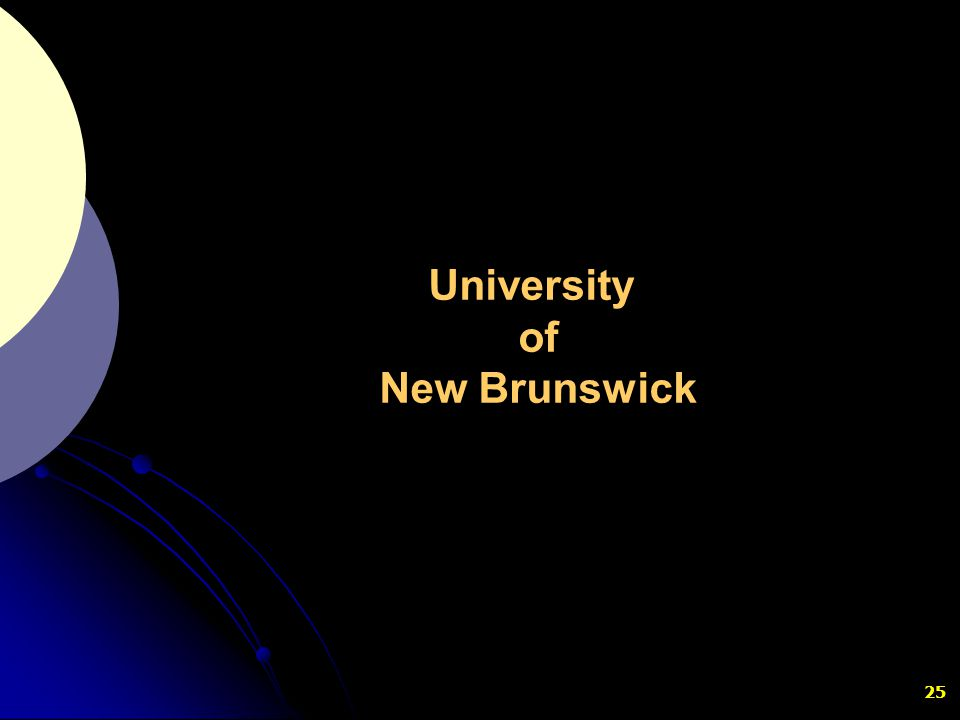 25 University of New Brunswick