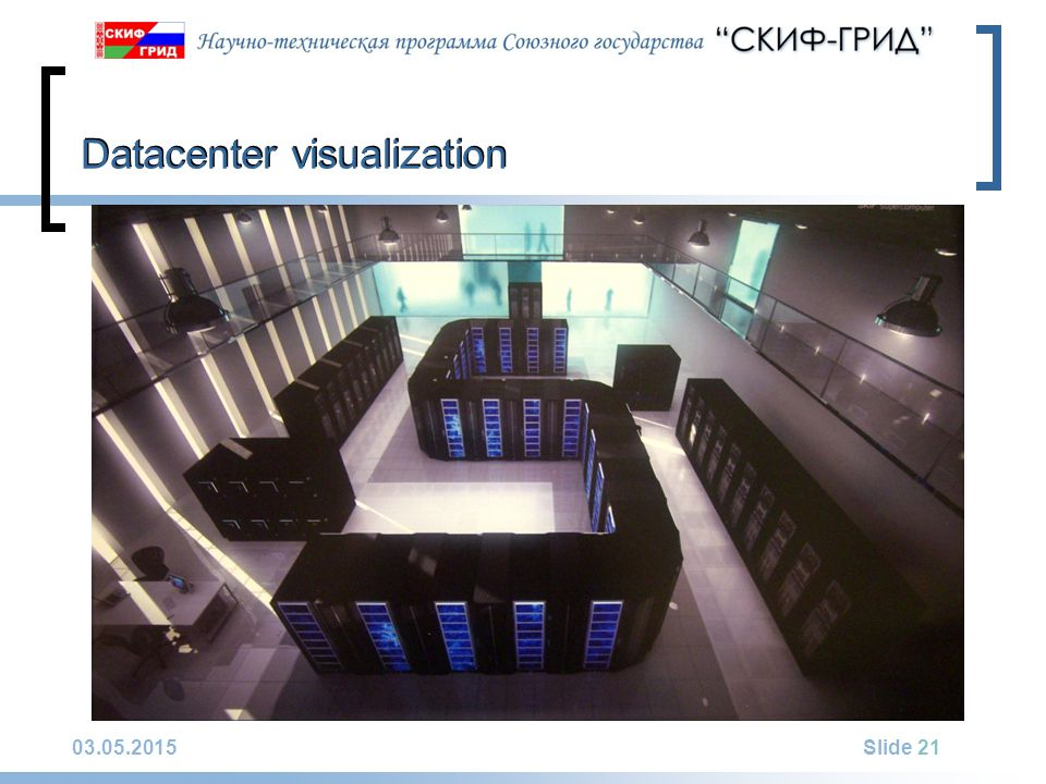 03.05.2015Slide 21 Datacenter visualization