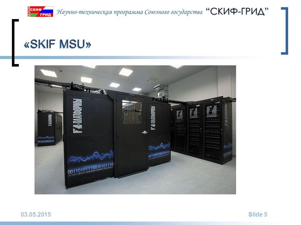 03.05.2015Slide 5 «SKIF MSU»