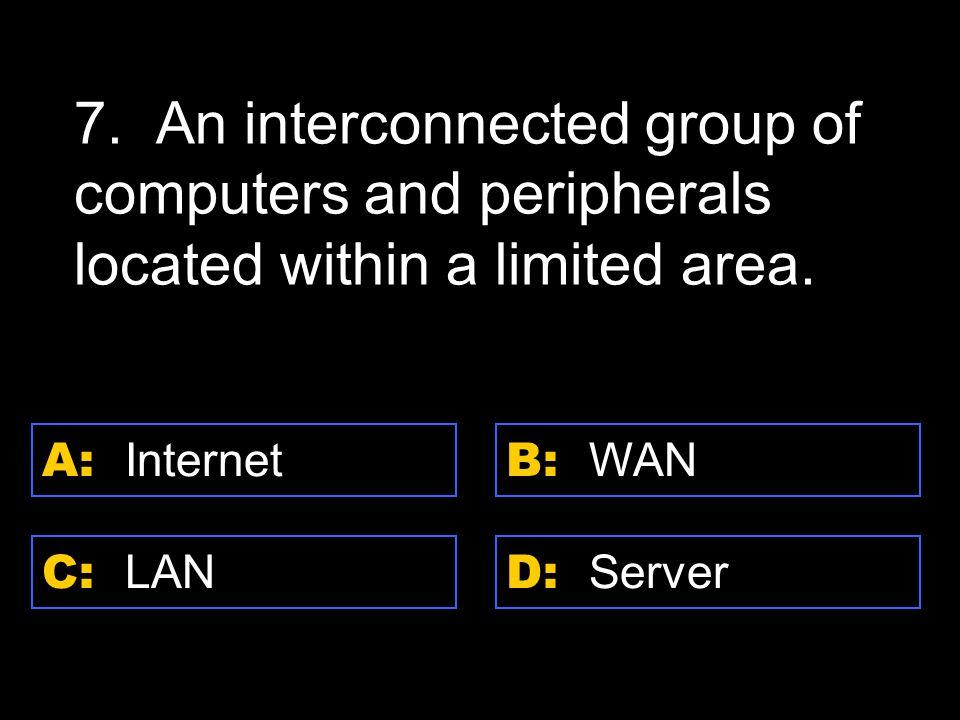 D: program A: software C: hardware B: peripheral 18.