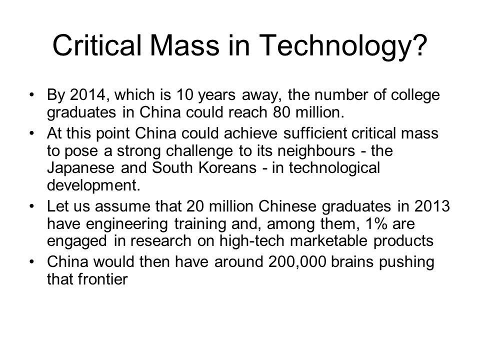 Critical Mass in Technology.