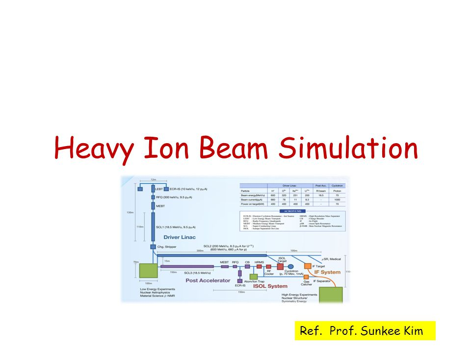 Heavy Ion Beam Simulation Ref. Prof. Sunkee Kim