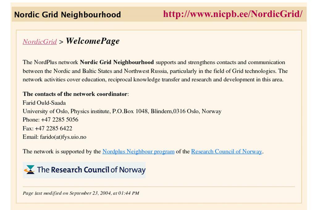 http://www.nicpb.ee/NordicGrid/