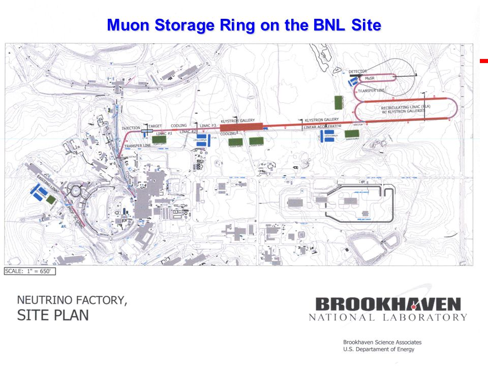 U.S. Department of Energy Brookhaven Science Associates Muon Storage Ring on the BNL Site