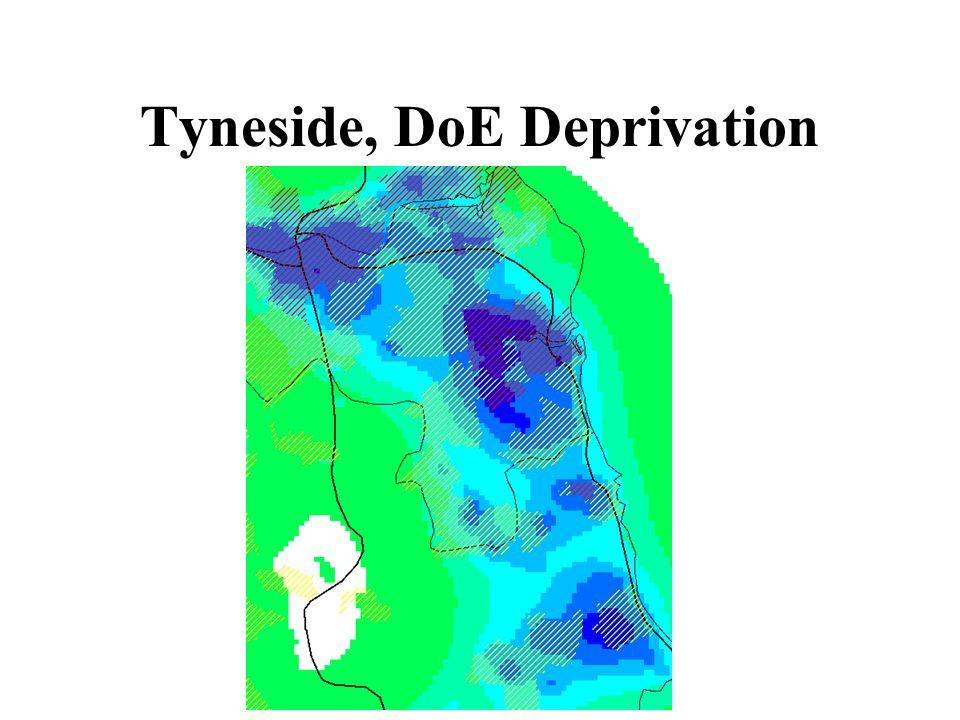Tyneside, DoE Deprivation