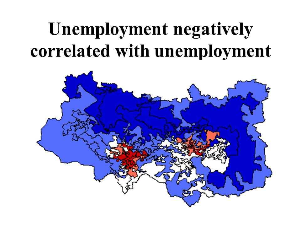 Unemployment negatively correlated with unemployment