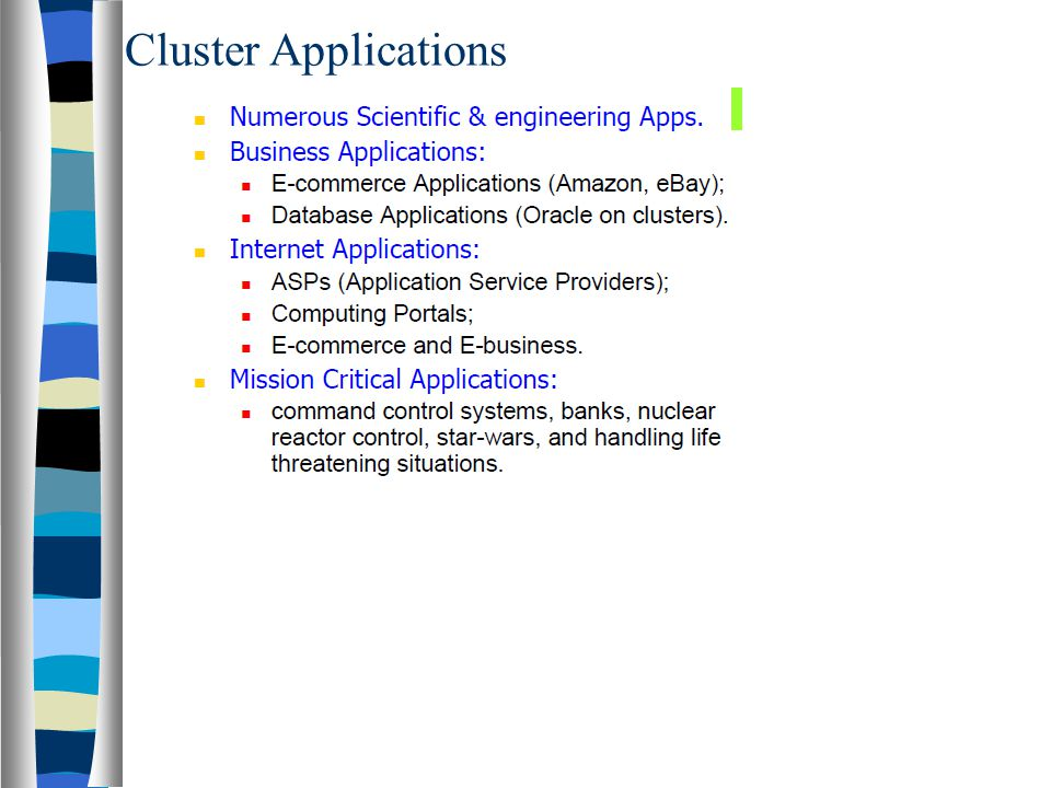 Cluster Applications