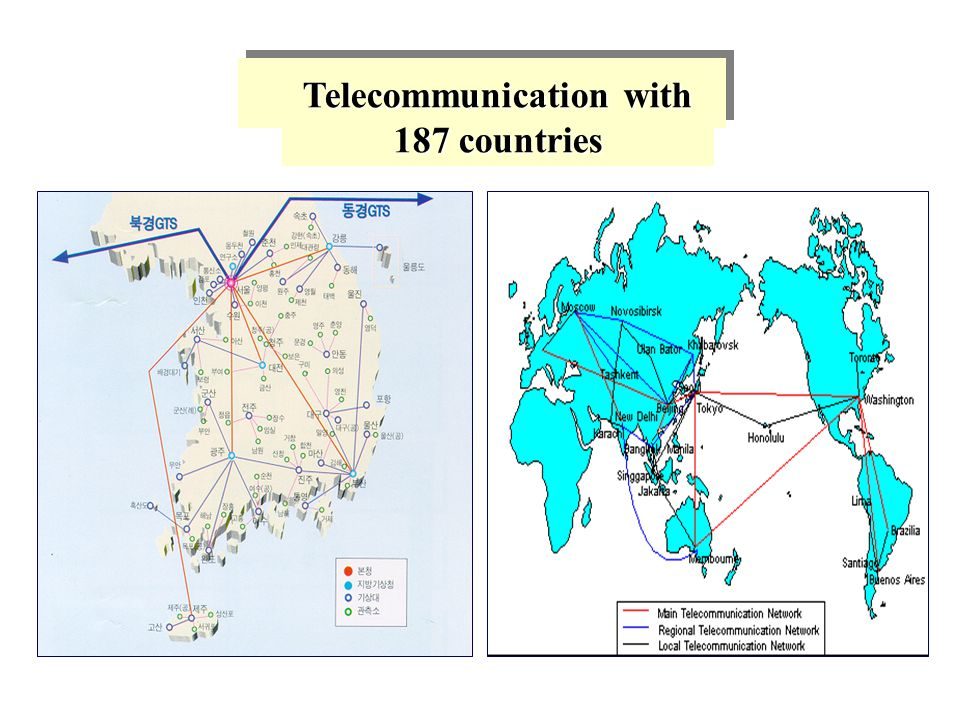 Telecommunication with 187 countries