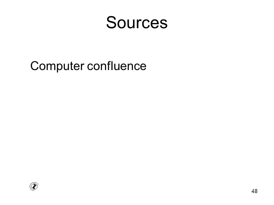 48 Sources Computer confluence