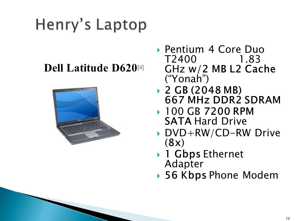 """ Pentium 4 Core Duo T2400 1.83 GHz w/2 MB L2 Cache (""""Yonah"""")  2 GB (2048 MB) 667 MHz DDR2 SDRAM  100 GB 7200 RPM SATA Hard Drive  DVD+RW/CD-RW Dri"""