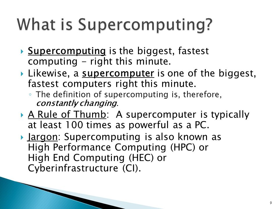 Supercomputer Edition CS 491 – Parallel and Distributed Computing40