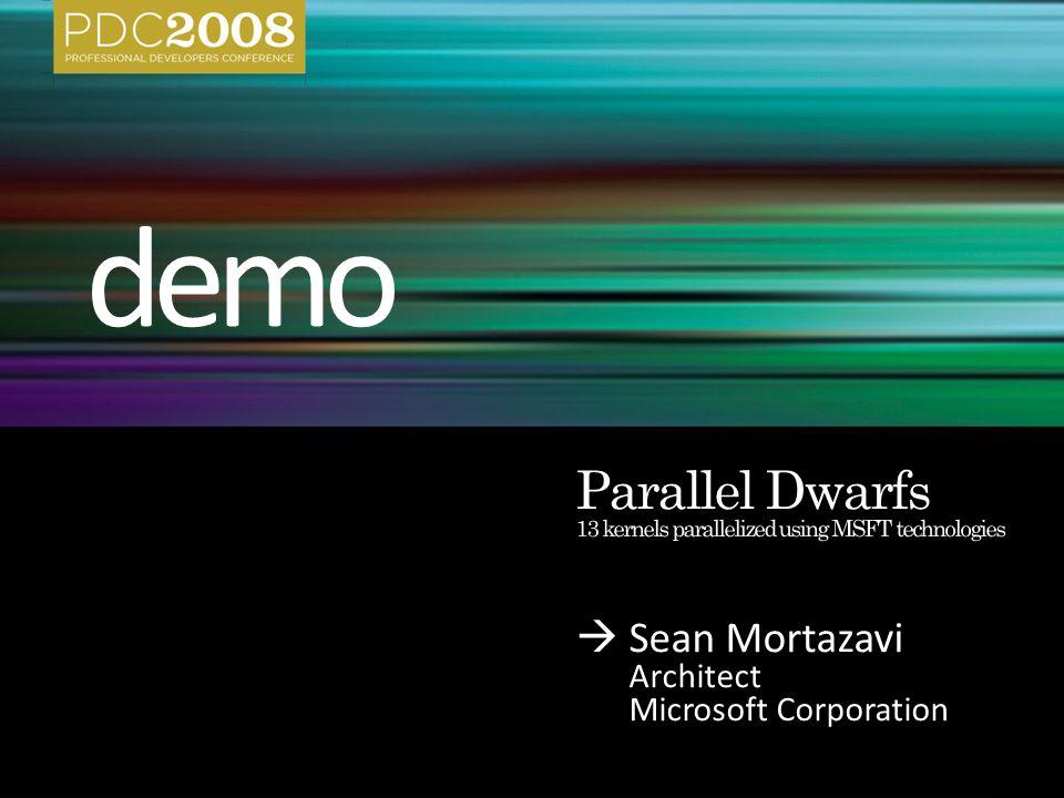  Sean Mortazavi Architect Microsoft Corporation