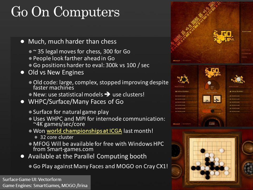 51 Surface Game UI: Vectorform Game Engines: SmartGames, MOGO /Irina