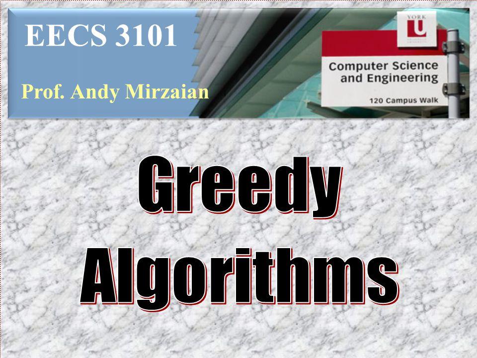EECS 3101 Prof. Andy Mirzaian