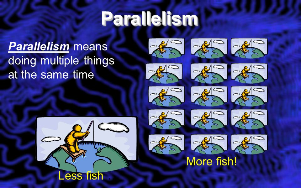 ParallelismParallelism Less fish … More fish.