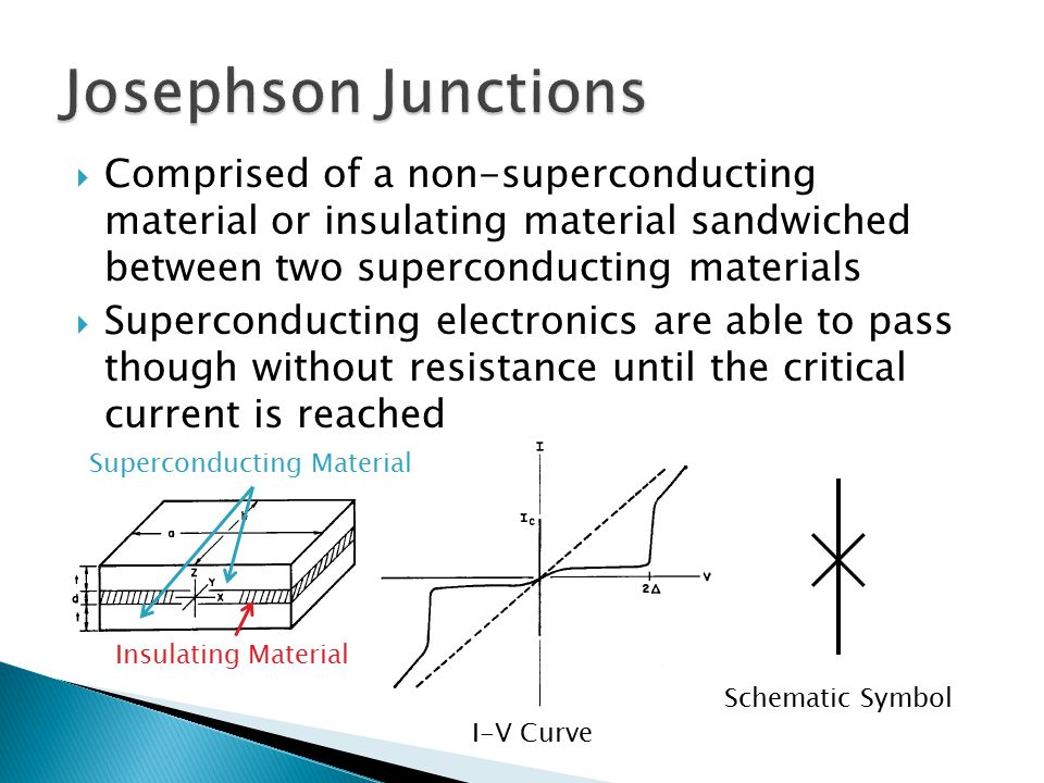  Using the properties of the Josephson junction, circuits can be built which pass individual flux quanta (a quantum being the smallest amount of magnetic flux) through an IC.