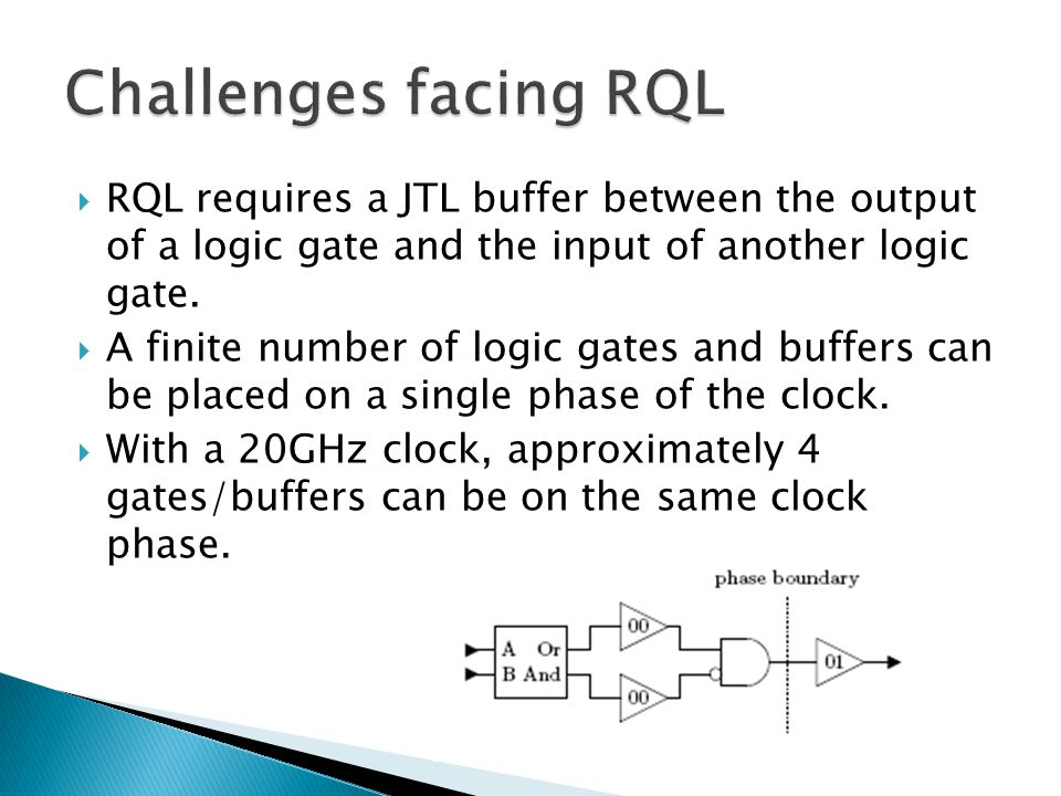  Gates/buffers can only be connected to their own clock phase or the next highest clock phase.