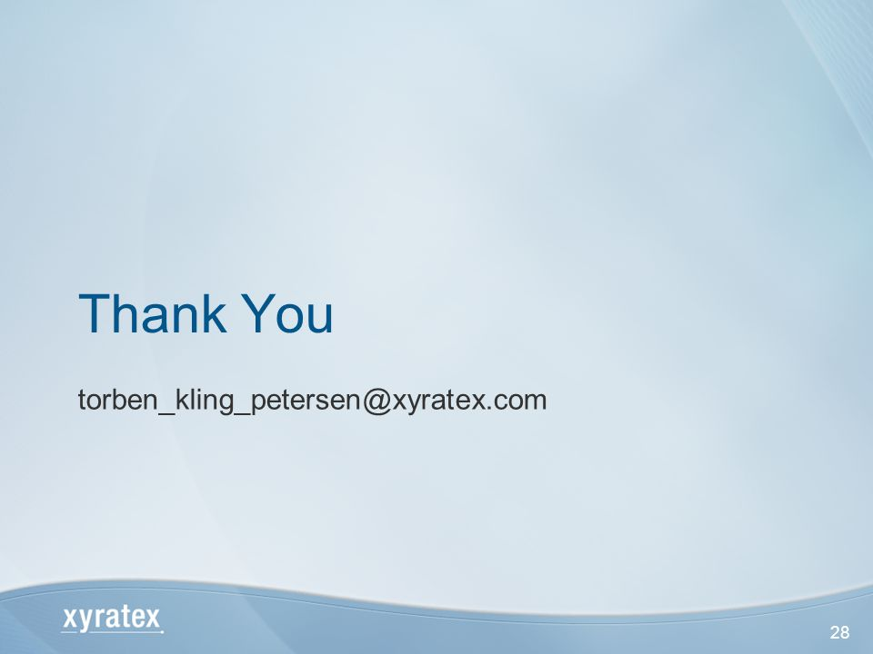 28 Thank You torben_kling_petersen@xyratex.com