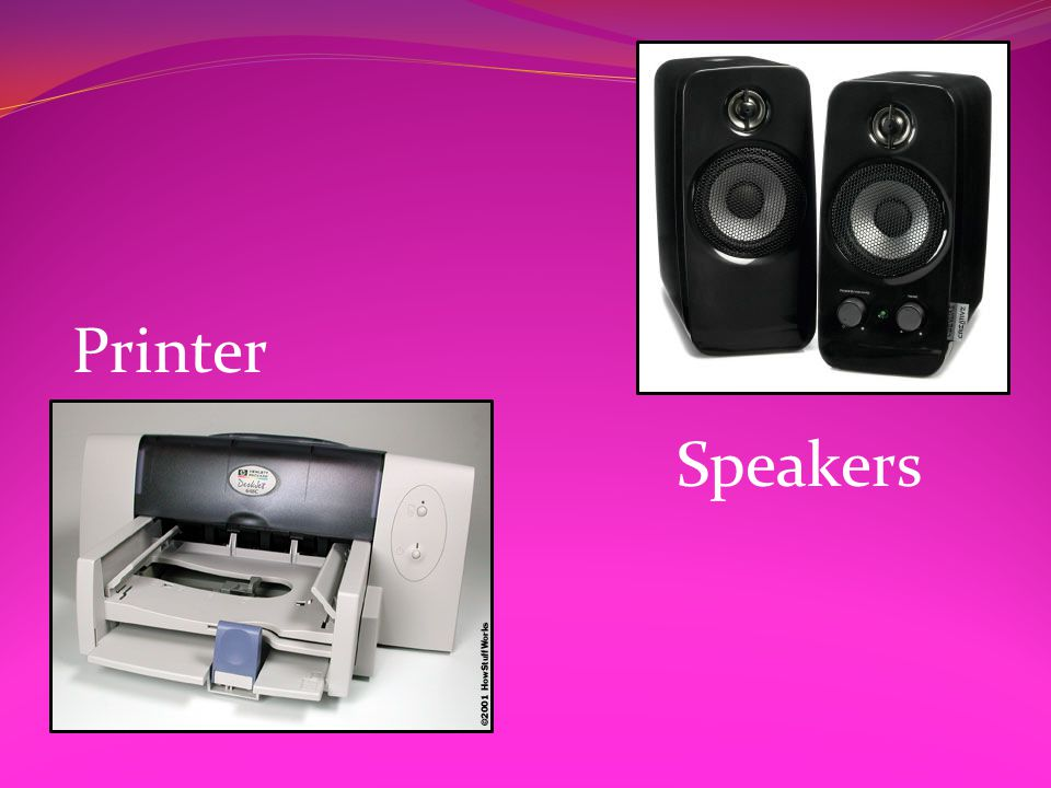 Speakers Printer