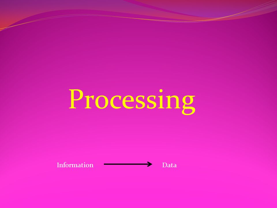 Processing DataInformation