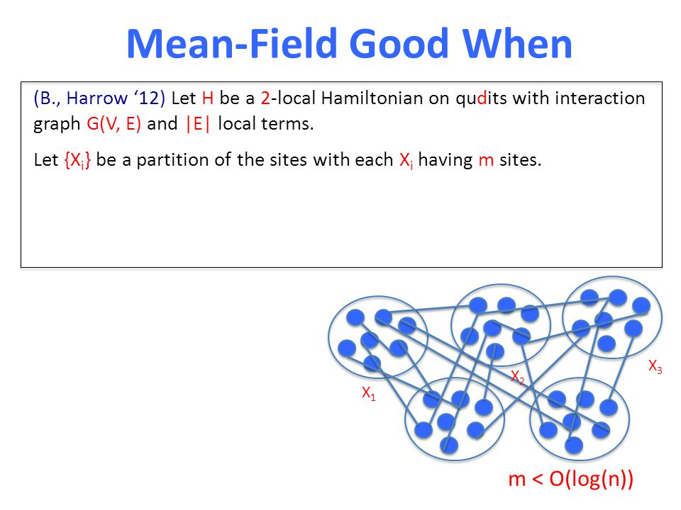 Let {X i } be a partition of the sites with each X i having m sites.