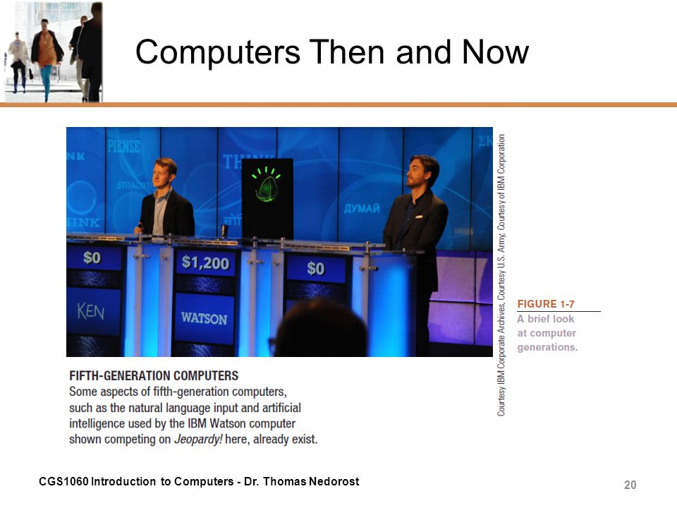 Computers Then and Now CGS1060 Introduction to Computers - Dr. Thomas Nedorost 20