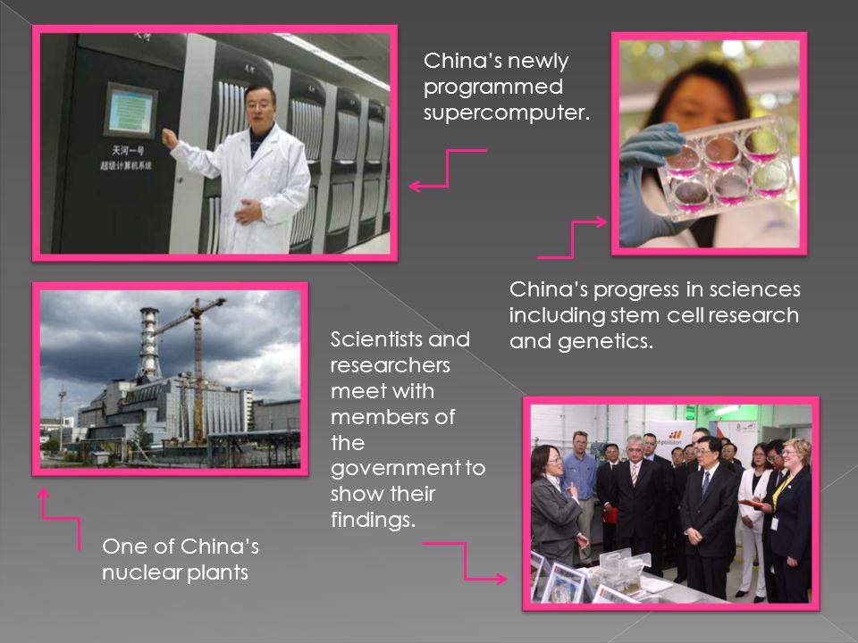 China's newly programmed supercomputer.