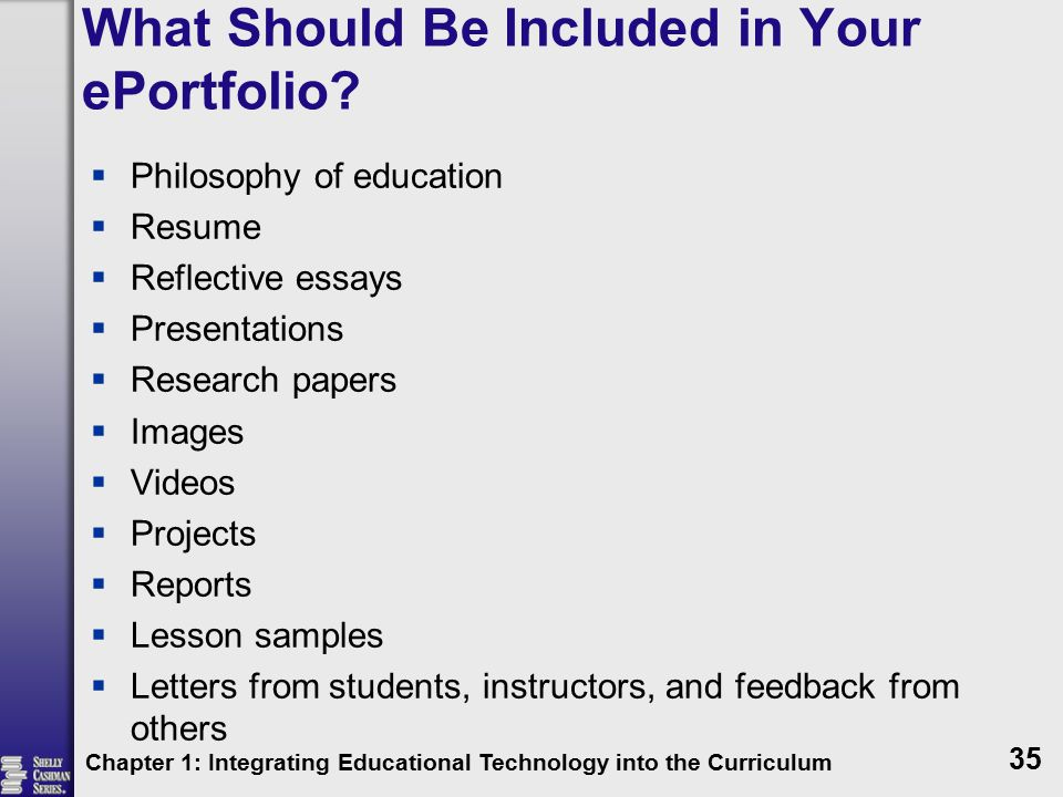 What Should Be Included in Your ePortfolio.