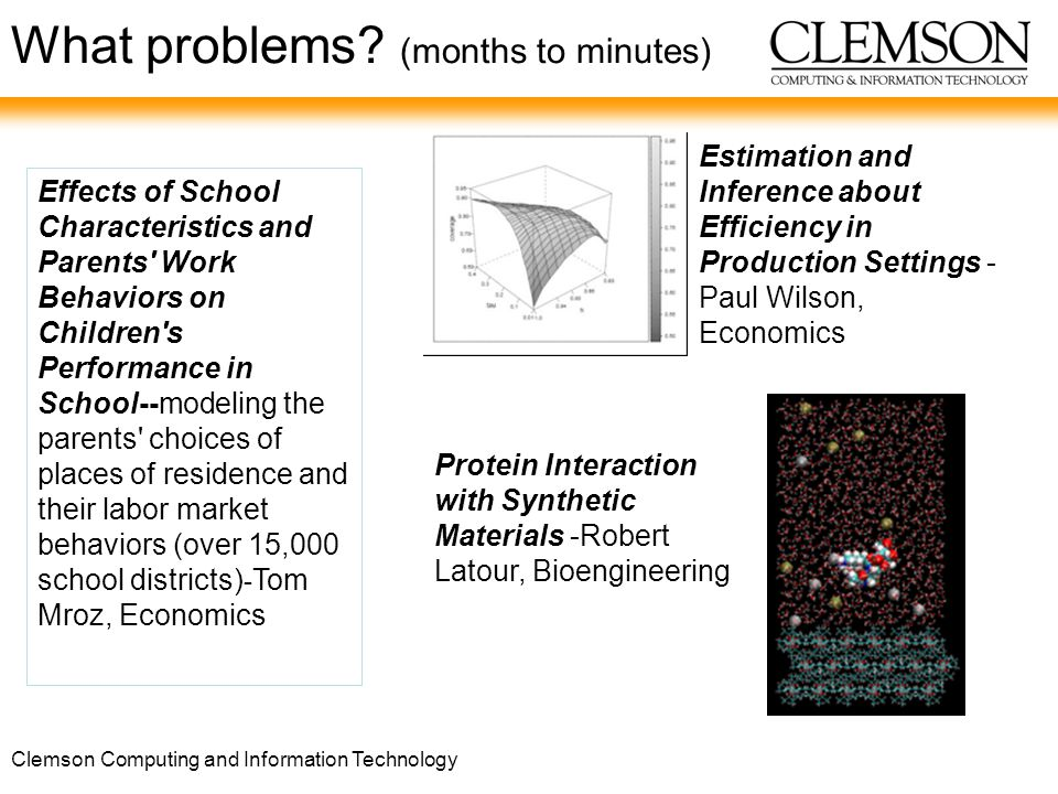 Clemson Computing and Information Technology What problems.