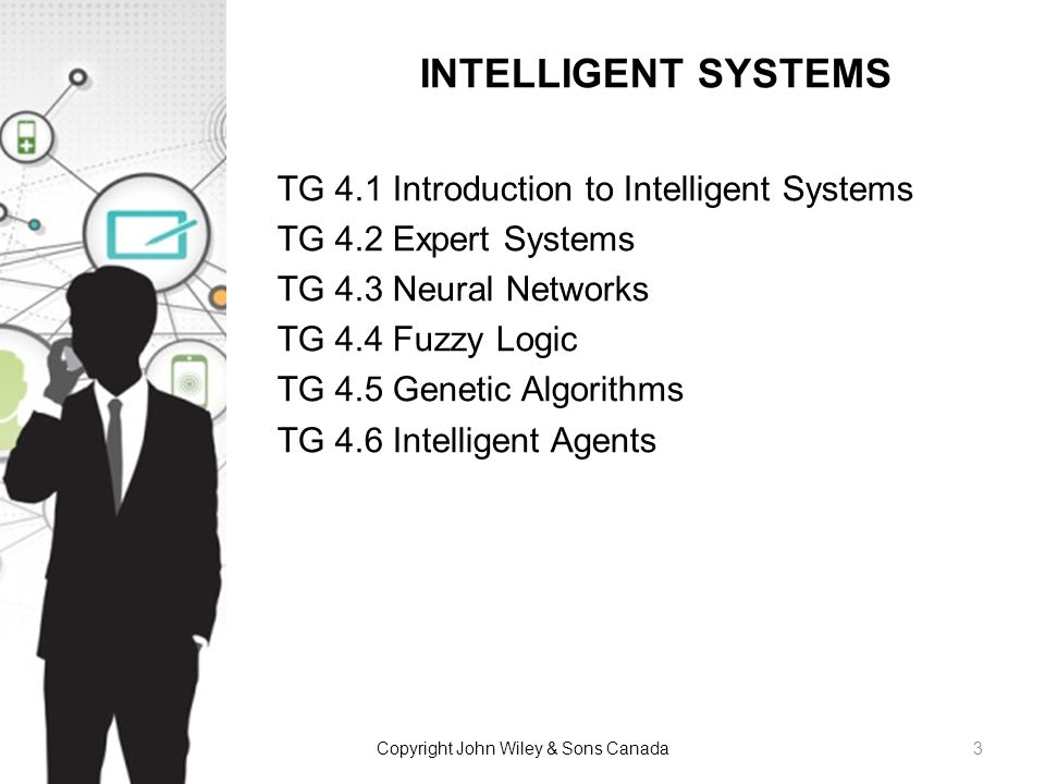 TG 4.1 Introduction to Intelligent Systems TG 4.2 Expert Systems TG 4.3 Neural Networks TG 4.4 Fuzzy Logic TG 4.5 Genetic Algorithms TG 4.6 Intelligen