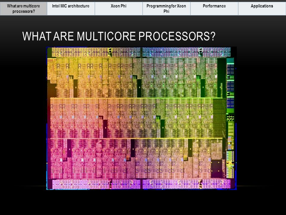 WHAT ARE MULTICORE PROCESSORS.