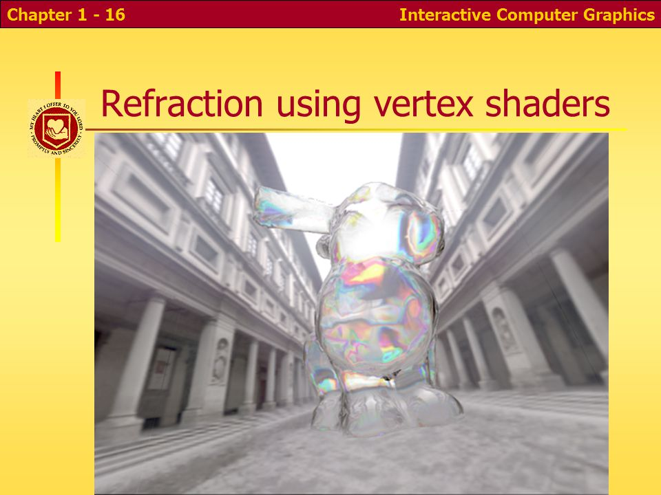 Refraction using vertex shaders Interactive Computer GraphicsChapter 1 - 16
