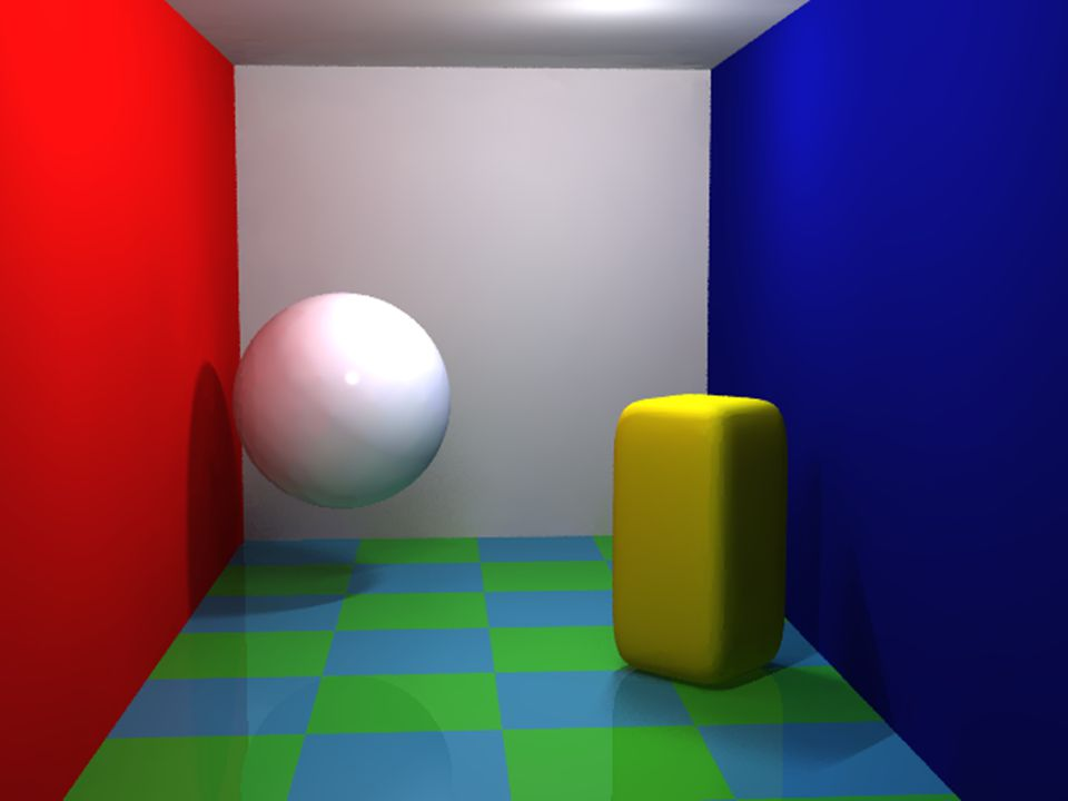 Interactive Computer GraphicsChapter 1 - 57 Radiosity in POV-Ray
