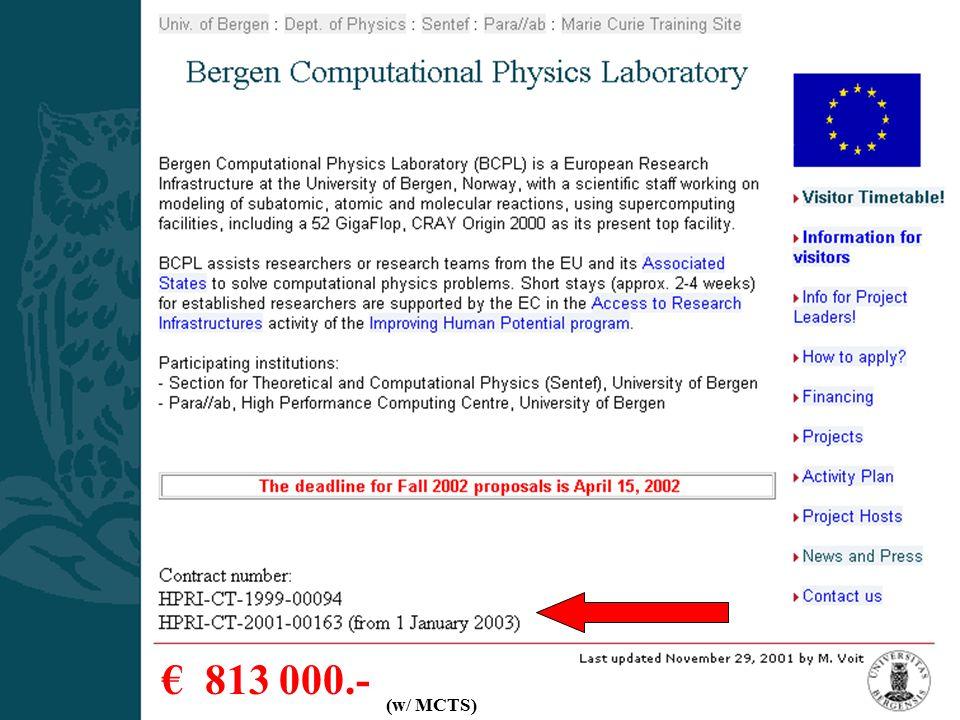 BCPL Presentation -Csernai3 € 813 000.- (w/ MCTS)