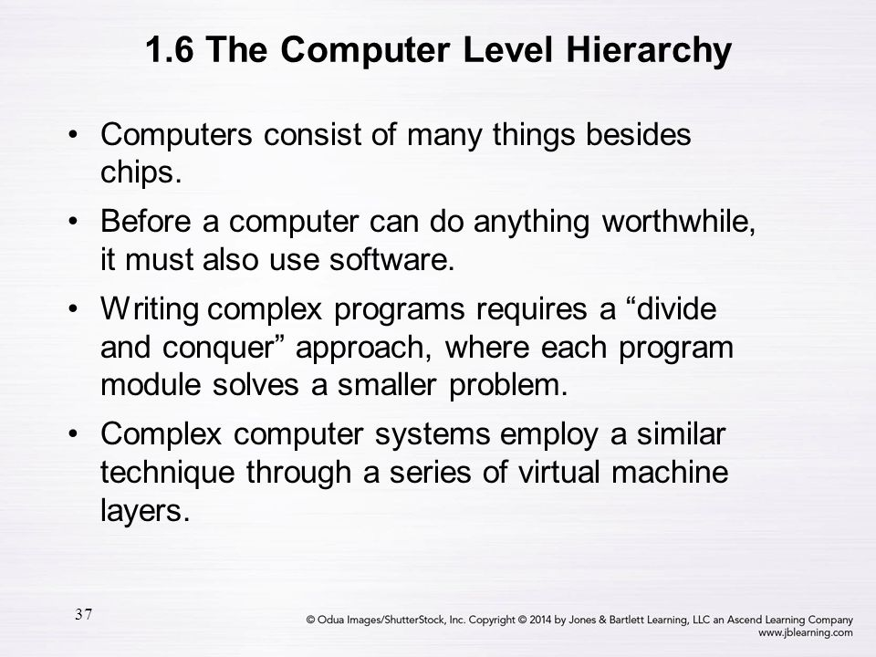 37 Computers consist of many things besides chips. Before a computer can do anything worthwhile, it must also use software. Writing complex programs r