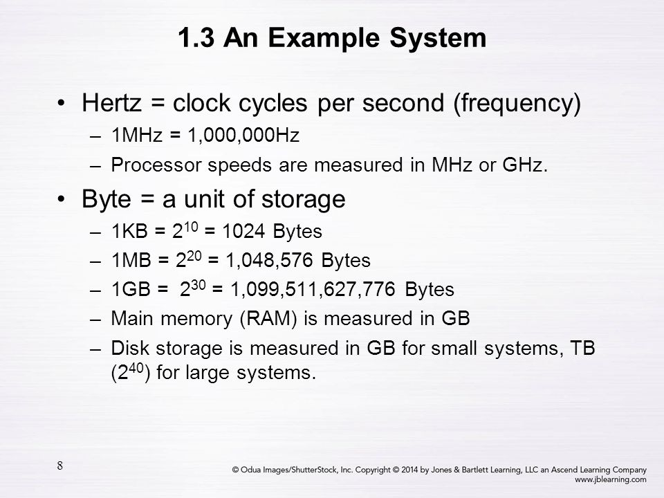 19 1.3 An Example System System buses can be augmented by dedicated I/O buses.