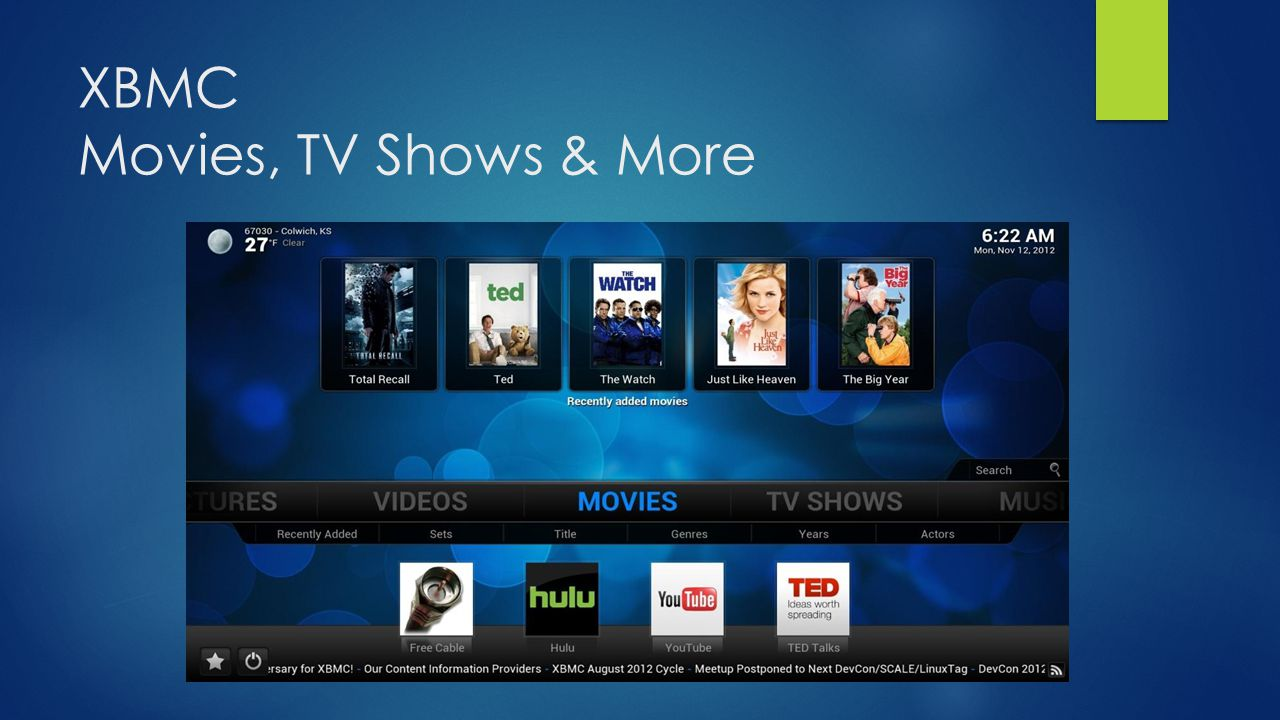 XBMC Movies, TV Shows & More