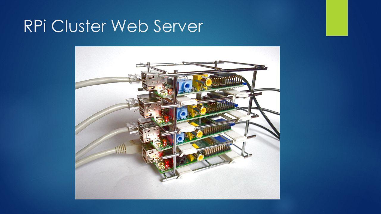 RPi Cluster Web Server