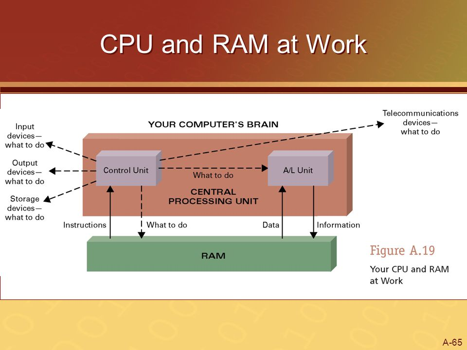 A-65 CPU and RAM at Work