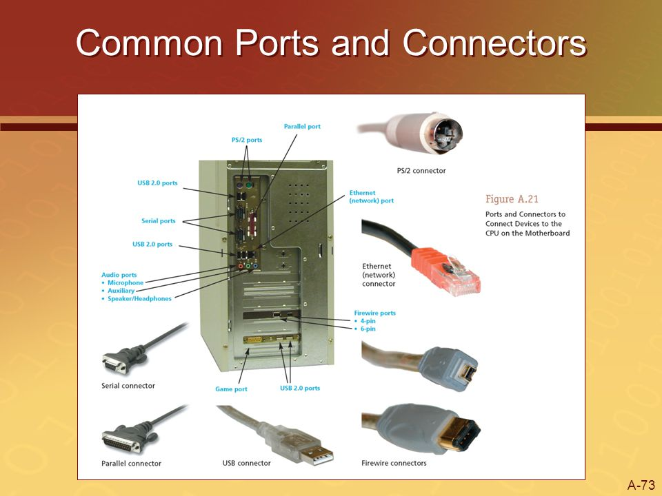 A-73 Common Ports and Connectors