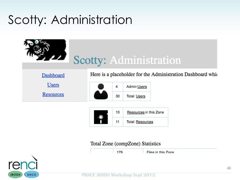 Scotty: Administration PRACE iRODS Workshop Sept 2012 46