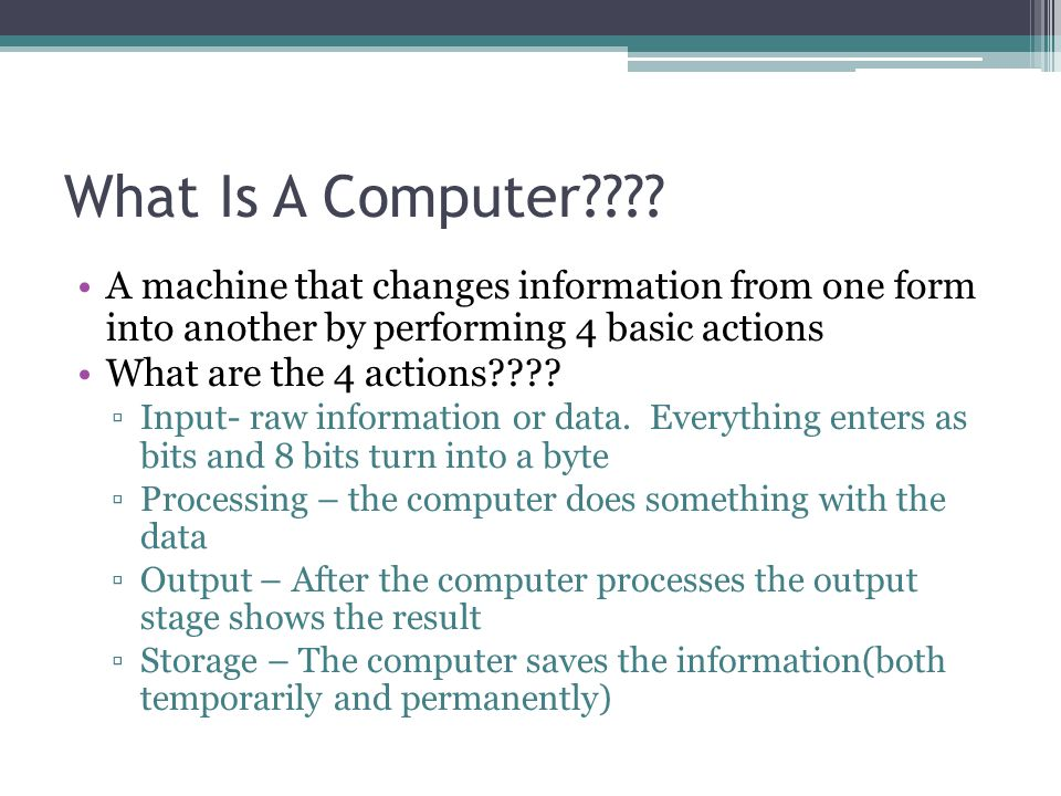 What Is A Computer???.