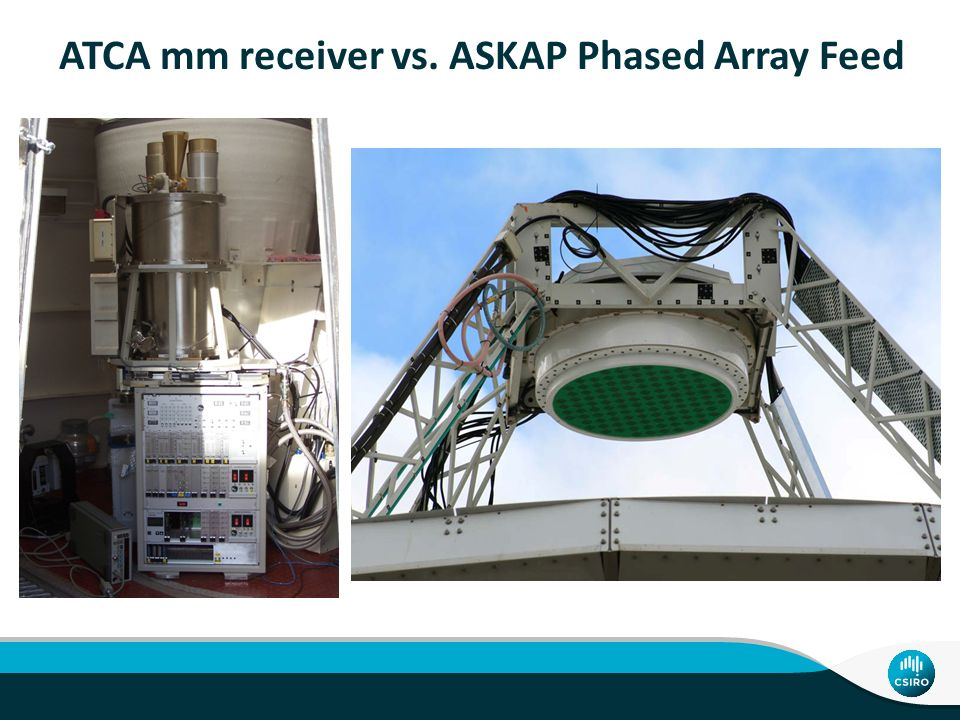 ATCA mm receiver vs. ASKAP Phased Array Feed