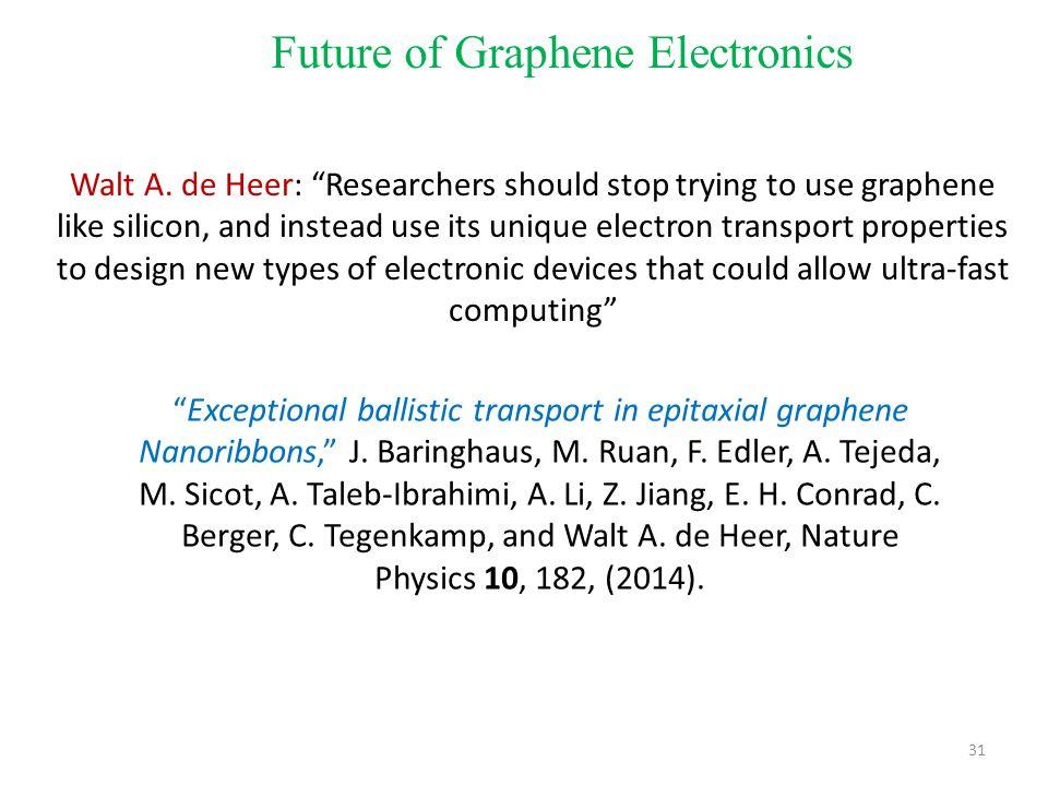 31 Future of Graphene Electronics Walt A.